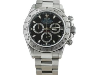 ROLEX DAYTONA COSMOGRAPH Rolex Oyster Perpetual Daytona Cosmograph, steel 40mm. case with matching steel bracelet, automatic chronograph movement , serial no. V866939, 2010. Very good condition, with little or no evidence of wear.