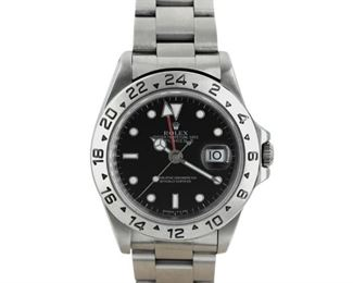 ROLEX EXPLORER II Rolex Explorer II, 42mm. stainless steel case and bracelet, screw-down crown, black dial, automatic movement. 1996. Very good, exhibiting little or no wear.