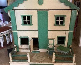 Hand made Folk Art Doll House