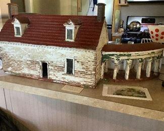 Old Folk Art Model of Summer Kitchen at Mount Vernon