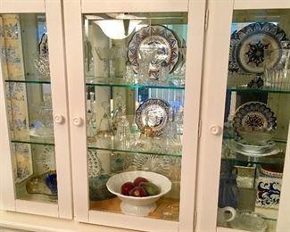 More Fine China inside Beautiful Glass China Cabinet.