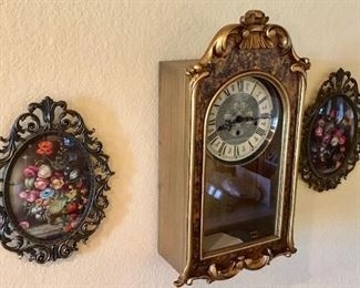 Vintage Wall Clock and decor.