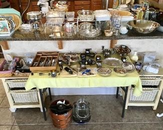Great Wicker pieces and more quality kitchen pieces.
