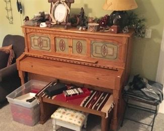 Vintage Baldwin upright player piano.