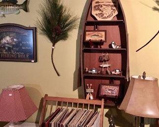Canoe Wood Shelf unit.