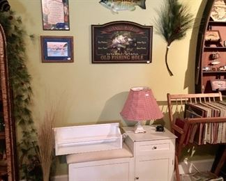 White wood Cabinets & Fish decor