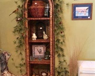 Very Nice Round top Wicker shelf