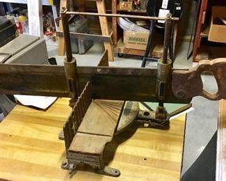 Antique Mitre box saw.
