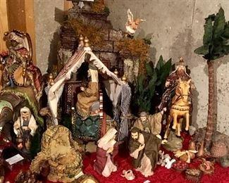 Excellent Large Figures Nativity Set.