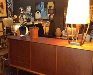 MCM credenza (lamp not available)