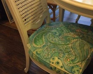 Custom-painted chairs