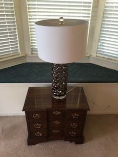 Table $30, Lamp $25