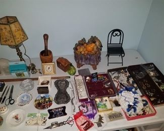 Costume jewelry, pen collection