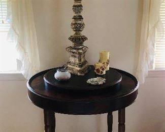 Side table, lamp
