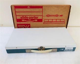 1950-60 metal case slide sorter