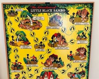 1951 The Adventures of Little Black Sambo game board and pieces by Cadaco Ellis