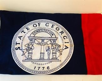 State of Ga flag used from7/1/1956 to 5/5/2003. Measures 3 feet by 4.5 feet