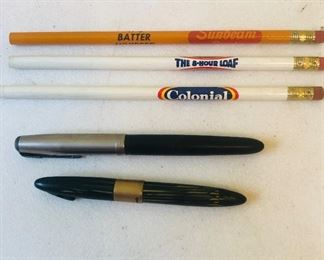 Vintage pens and pencils