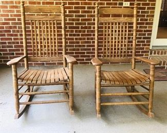 Pair of porch rockers