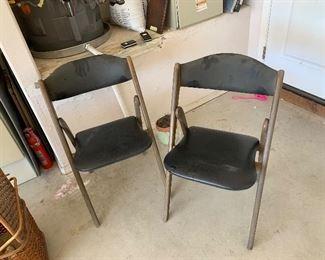 Mid Century folding chairs