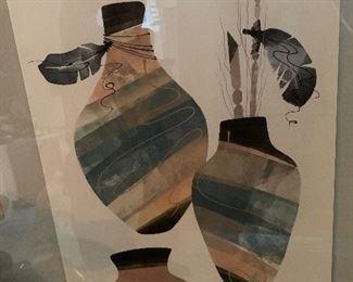 David Paul Hand Signed  Original Vintage 1988 Native American Art Framed