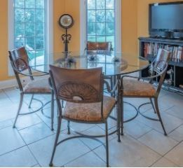 *PRESALE ITEM - Walter E Smithe kitchen table + 4 chairs,  $445.