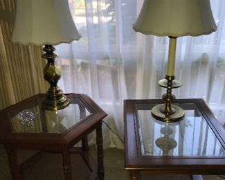 Several End Tables and Coffee Tables.  Lots of lamps