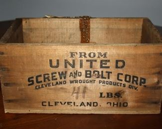 United Screw and Bolt Antique Crate