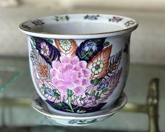 Beautiful porcelain pot