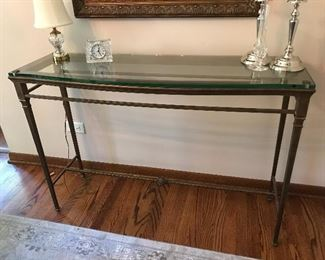 Beautiful gold toned sofa/accent table