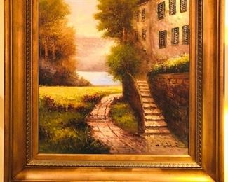 Original Oil Painting by W. Eddie.