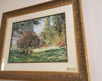beautifully framed monet print