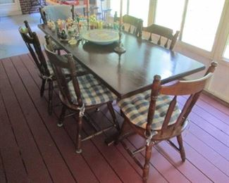 Maple Table with 6 Maple Chairs