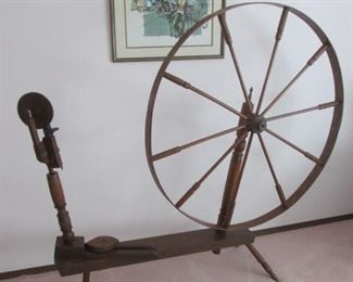 Antique Rustic Spinning Wheel