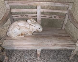 Child size wooden bench