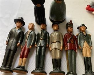 Wooden Revolutionary War and Civil War figures