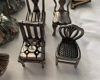 Stieff pewter chairs