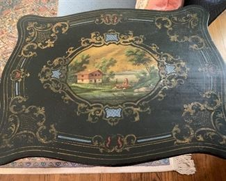 Antique sewing table/music box
