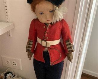 Large felt soldier doll