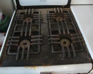 burners on cookstove