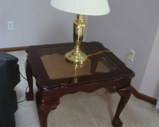 End table with claw feet
