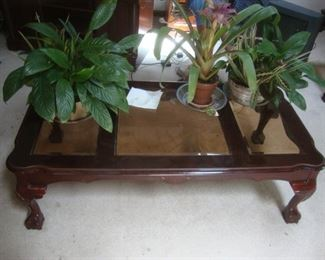 Coffee table with claw feet