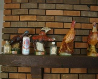 Wild turkey bourbon decanters from the 1970's