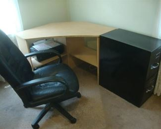 Office chair and small corner desk