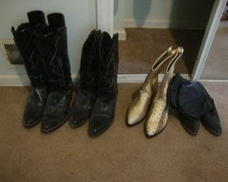 Western boots, mens size 10 and women's size 6 1/2
