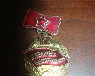 Russian pin with hammer and sickle