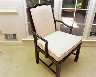 2. American of Martinsville Asian Inspired Black Lacquer Armchair