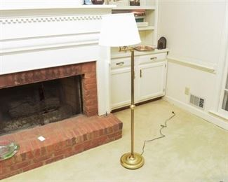 3. Swing Arm Brass Floor Lamp