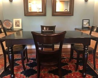 Dinette Table & Four Chairs Dark Finish