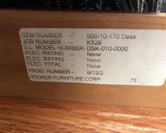 Executive Desk by Hooker Furniture